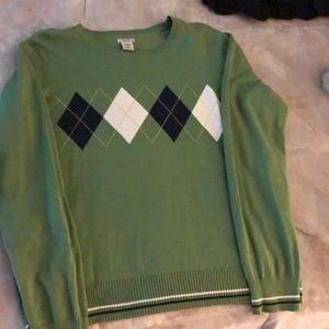 Izod green sweater